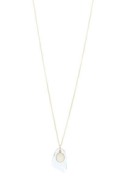 Loriann - Clear Opal Roman Glass Necklace