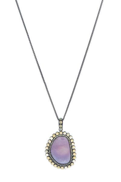 Loriann - Opal Sapphire Pendant Necklace