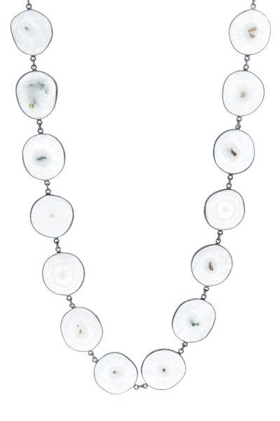 Loriann - Silver Solar Quartz Accessory Chain Necklace