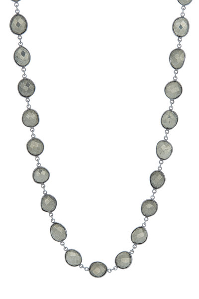 Loriann - Rhodium Silver Pyrite Accessory Chain