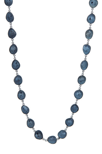 Loriann - Silver Mystic Spinel Accessory Chain Necklace