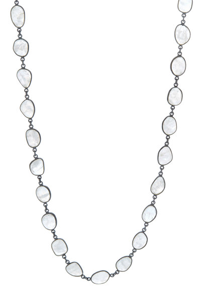 Loriann - Sterling Silver Moonstone Accessory Necklace