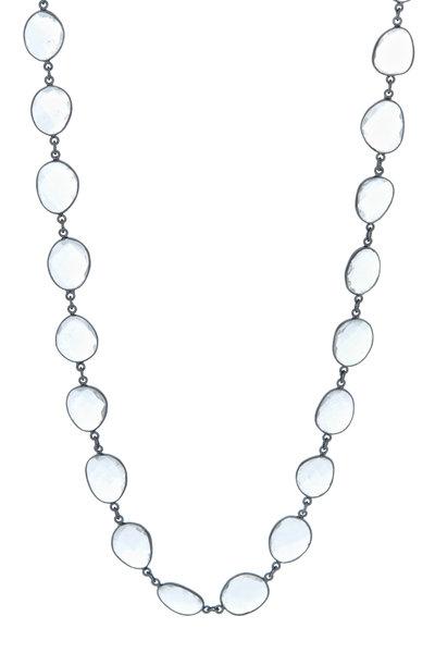 Loriann - Silver Clear Quartz Accessory Chain Necklace