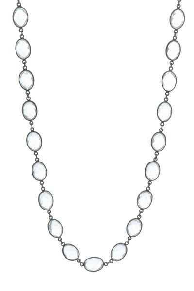 Loriann - Rhodium Silver Clear Quartz Accessory Chain