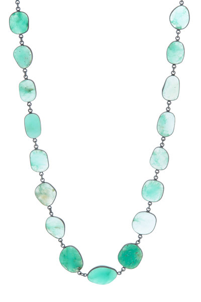 Loriann - Sterling Silver Chrysoprase Necklace