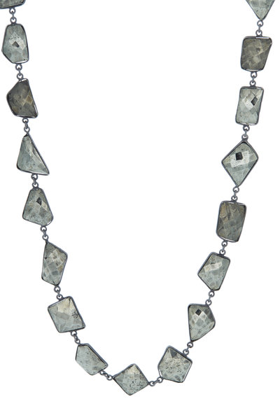 Loriann - Silver Chrysoprase Accessory Chain Necklace