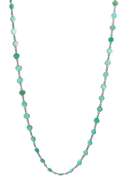 Loriann - Sterling Silver Chrysoprase Accessory Necklace