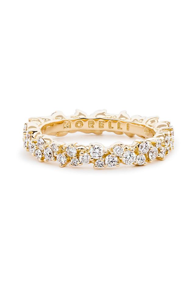 18K Yellow Gold Confetti Diamond Ring