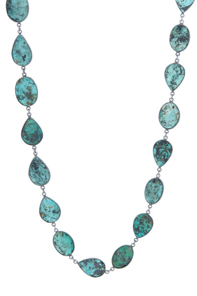 Loriann - Sterling Silver Turquoise Accessory Chain Necklace