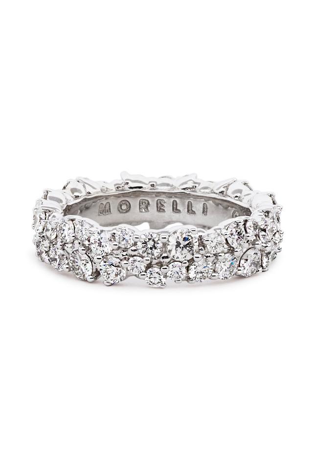 18K White Gold Diamond Confetti Ring