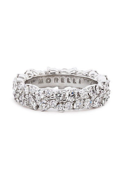 Paul Morelli - 18K White Gold Diamond Confetti Ring