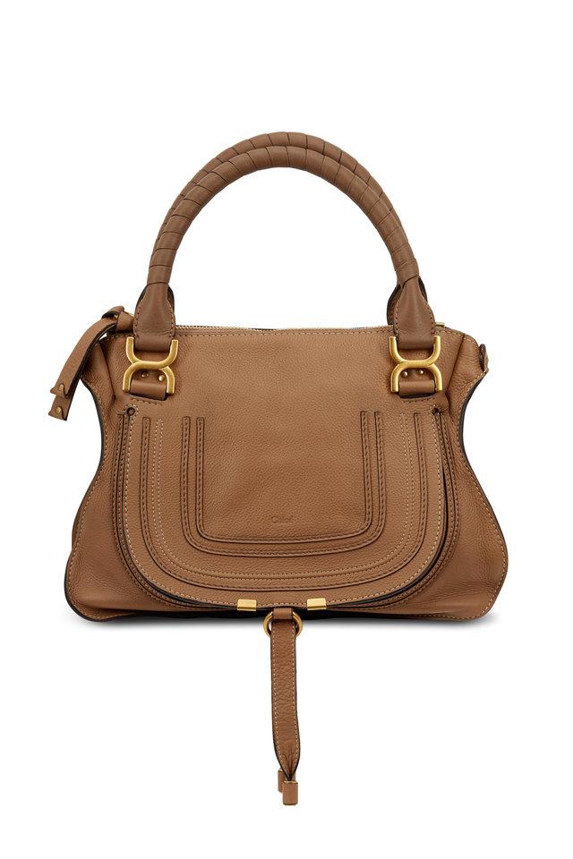 Marcie Nutmeg Leather Medium Shoulder Bag