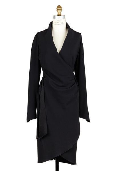 Peter Cohen - Black Long Sleeve Draped Dress