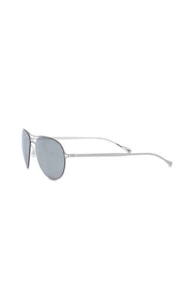 Paul Smith - Surrey Brushed Silver Aviator Sunglasses