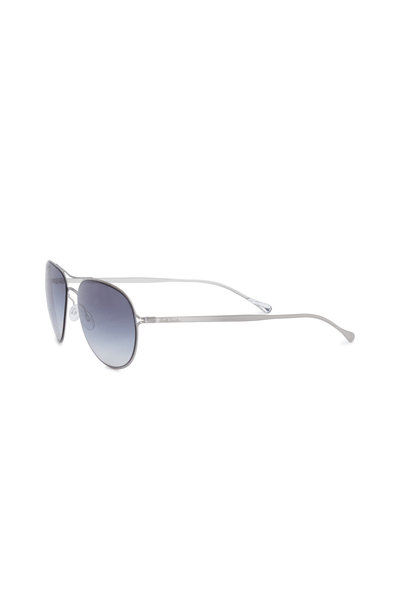 Paul Smith - Surrey Brushed Silver Aviator Sunglasses