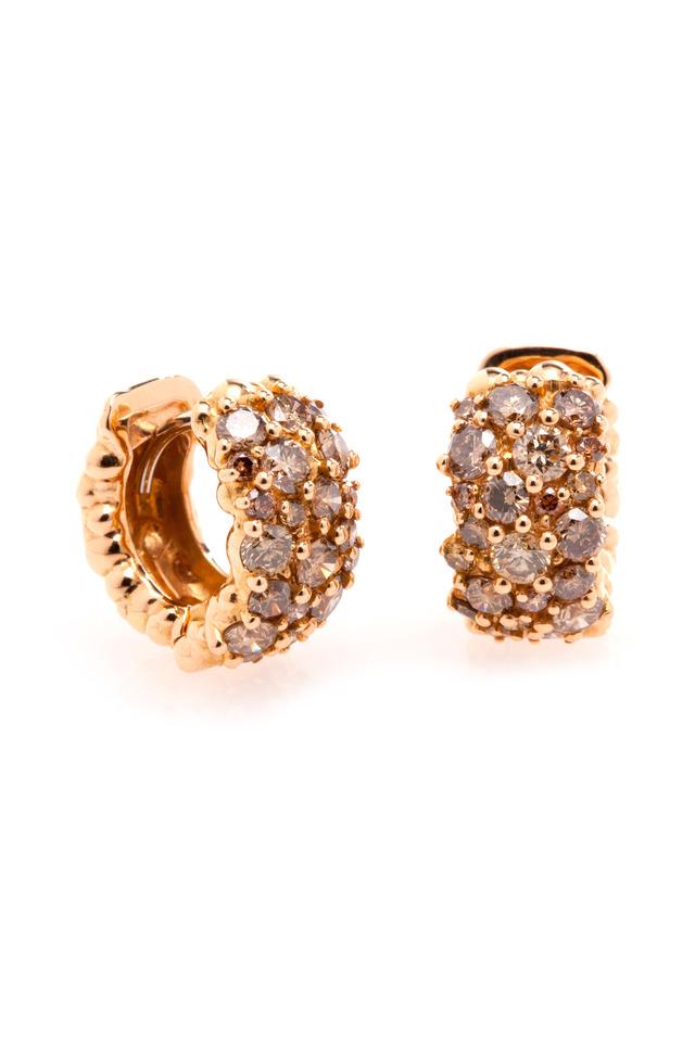 Rose Gold Confetti Huggie Earrings