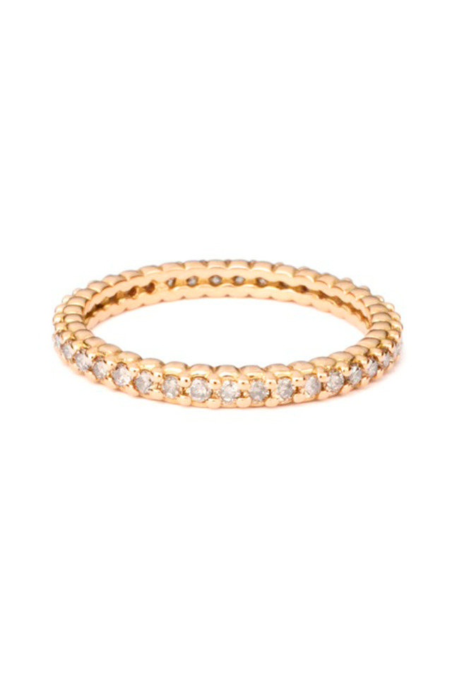 Pink Gold Diamond Pinpoint Ring