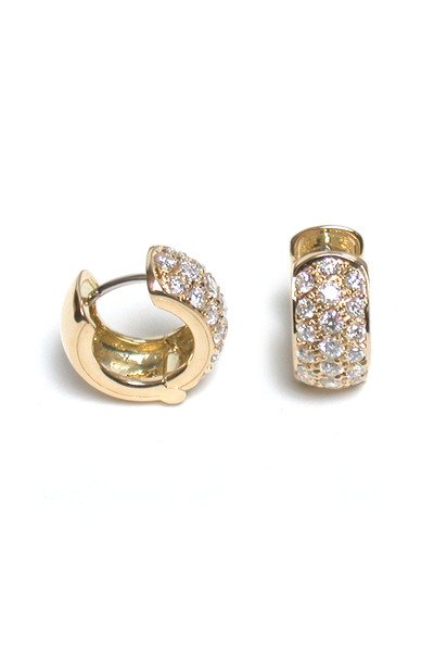 Paul Morelli - 18K Yellow Gold Diamond Huggie Hoops