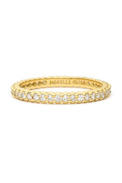 Paul Morelli - 18K Yellow Gold Diamond Eternity Band