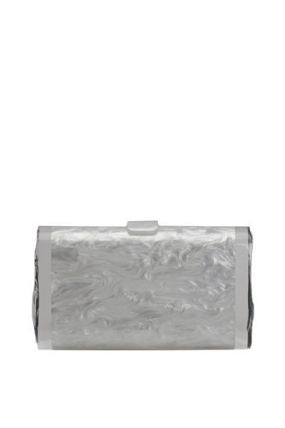 Edie Parker - White Pearl Acrylic Clutch