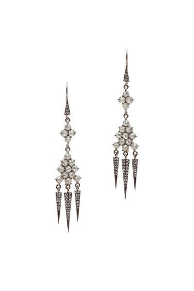 Sylva & Cie - 18K White Gold Diamond Chandelier Earrings