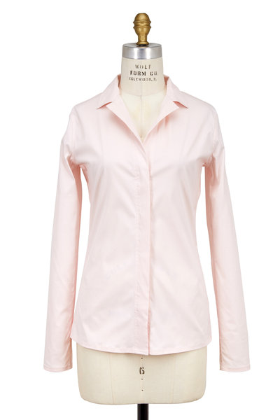 Lareida - Catharina Light Pink Stretch Cotton Blouse