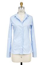 Lareida - Catharina Light Blue Stretch Cotton Blouse
