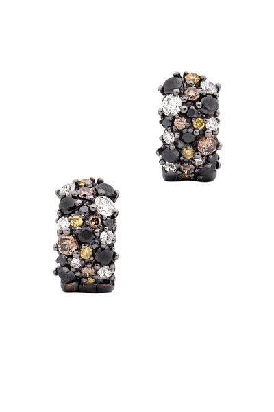 Paul Morelli - Black Diamond Huggie Earrings