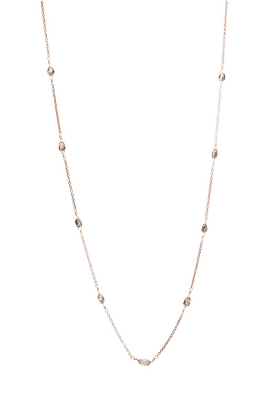 Paul Morelli - Pink Gold Cognac Diamond Bead Chain Necklace
