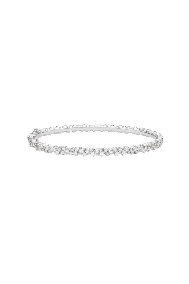 18K White Gold Diamond Confetti Bracelet