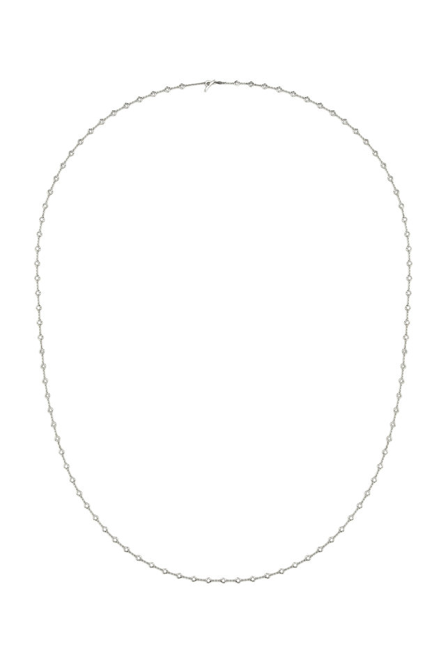White Gold Diamond Small Puddle Chain Necklace