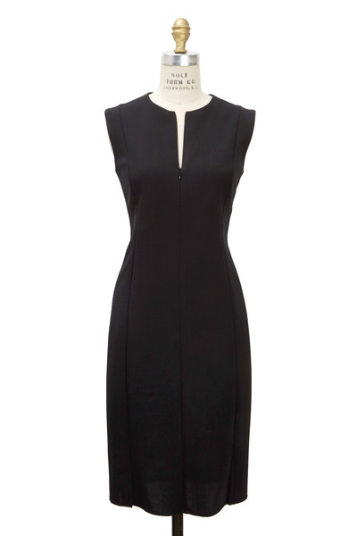 Akris - Black Knit Double Face Dress