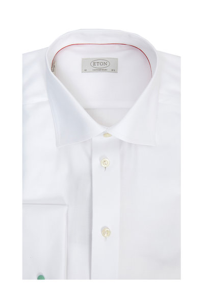 Eton - White French Cuff Contemporary Fit Dress Shirt