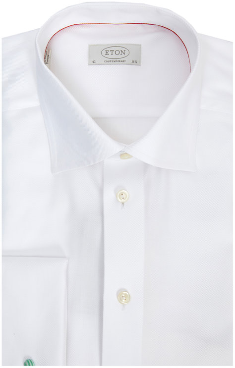 Eton White French Cuff Contemporary Fit Dress Shirt