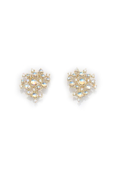 Paul Morelli - 18K Yellow Gold Blue Moonstone & Diamond Earrings