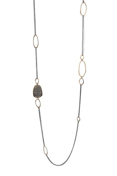 Dana Kellin - Gold & Silver Pavé Diamond Necklace