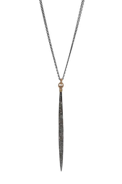 Dana Kellin - 14K Gold & Silver Pavé Diamond Spear Necklace