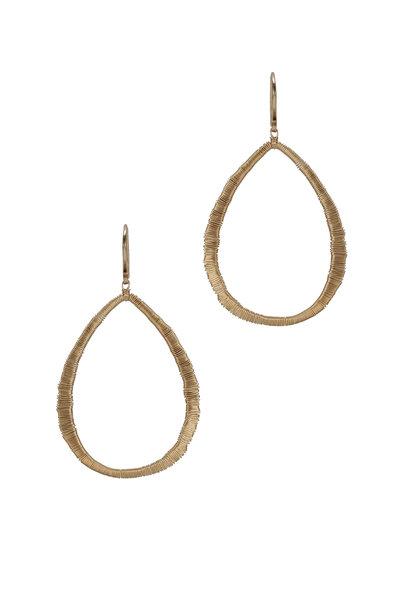 Dana Kellin - Yellow Gold Open Oval Drop Earrings