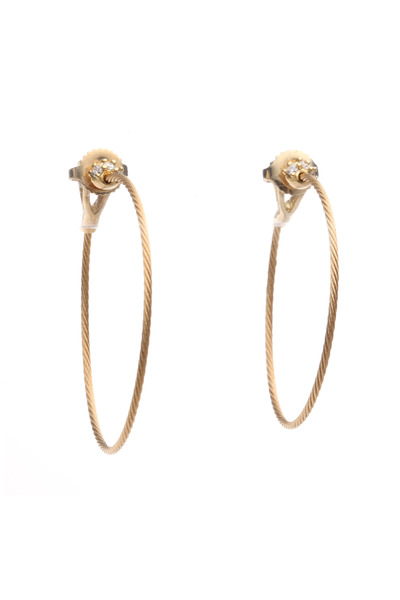 Paul Morelli - Yellow Gold Wire Diamond Hoop Earrings