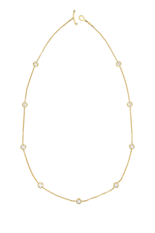 Yellow Gold White Diamond Necklace