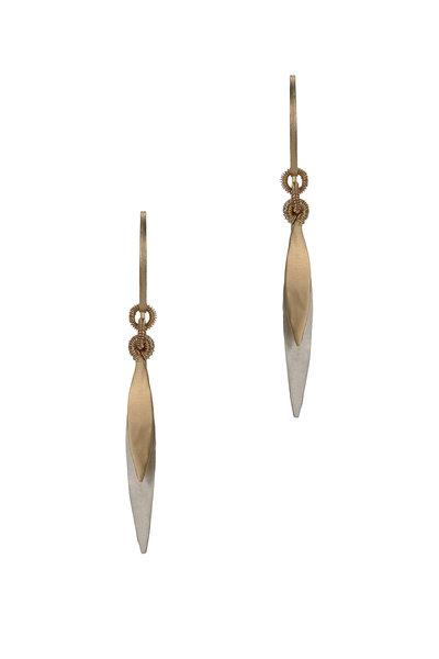 Dana Kellin - 14K Yellow Gold & Silver Drop Earrings