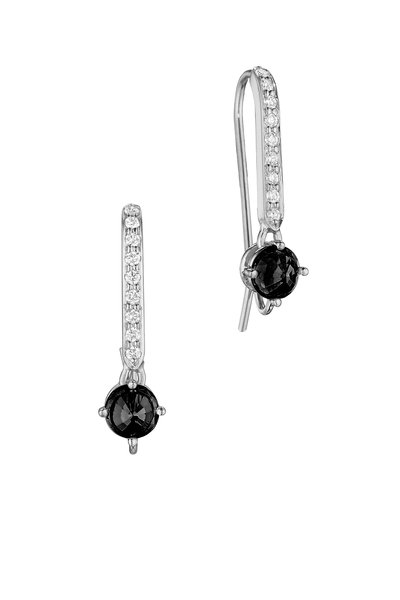 Paolo Costagli - White Gold Black & White Diamond Earrings
