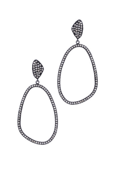 Yossi Harari - 24K Gold & Silver Openwork Diamond Lilah Earrings