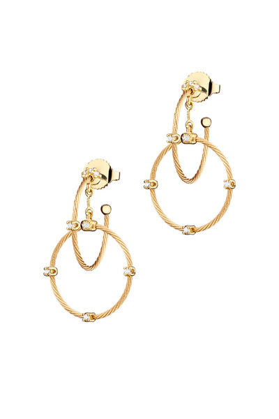Paul Morelli - 18K Yellow Gold Diamond Double Wire Hoops