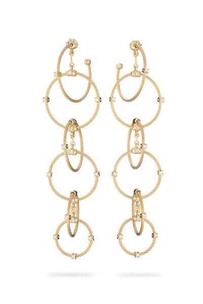 Paul Morelli - 18K Gold & Diamond Chain Wire Earrings