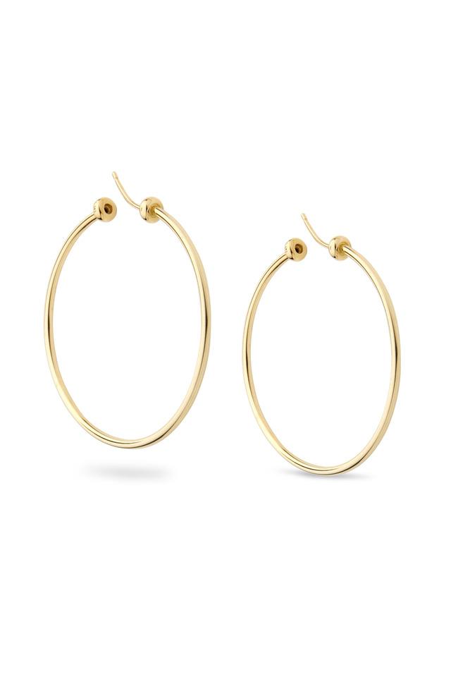 Rigid Gold Hoop Earrings