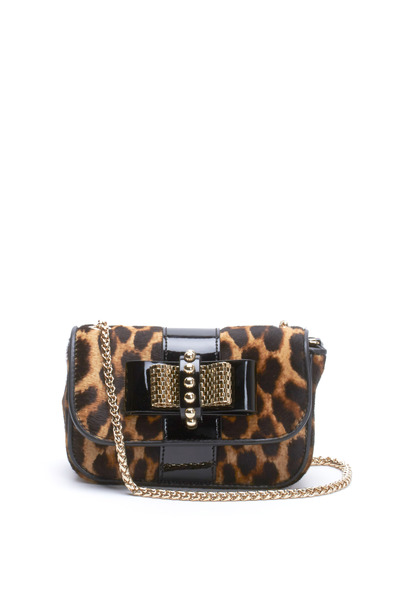 Christian Louboutin - Sweet Charity Leopard Bow Mini Crossbody Bag