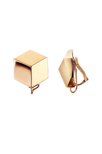 Paolo Costagli - Rose Gold Button Earrings