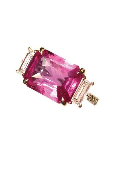 Paolo Costagli - Platinum Pink Sapphire Diamond Ring