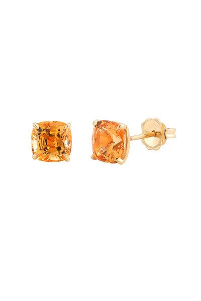 Paolo Costagli - 18K Yellow Gold Mandarin Garnet Studs